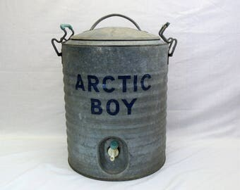 Arctic Boy galvanized metal vintage Water Cooler 5 gallon container
