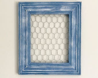 Distressed Chicken Wire Frame / Earring Holder