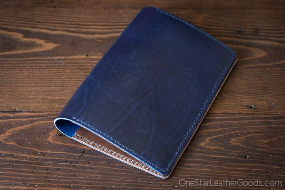 Hobonichi Cousin planner (fits other A5 notebooks) cover, Horween Chromexcel leather - blue