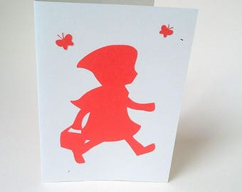 """""""The little Red Riding Hood"""" and Butterfly card"""