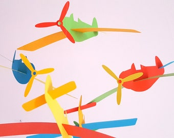 """""""Airplanes"""" paper mobile in multicolors"""