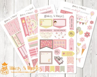 Birthday Girl Planner Stickers for the Happy Planner