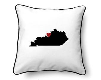 Kentucky Pillow - Kentucky Gift - Kentucky Map - KY State Map