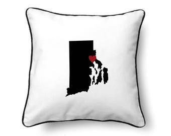 Rhode Island Pillow - Rhode Island Gift - Rhode Island Map - RI State Map