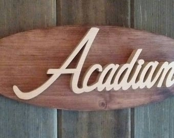 1971 Pontiac Acadian Emblem Oval Wall Plaque-Unique scroll saw automotive art created from wood.