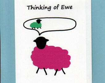 Thinking of you Card / Thinking of Ewe