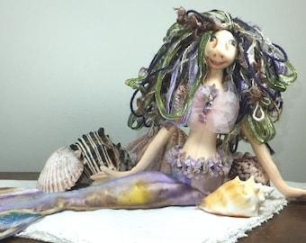 Art Doll-Francie the Mermaid OOAK Cloth Doll