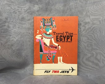 Vintage TWA Memorabilia - Vintage Travel Guide - Vintage Egypt Book - TWA Airline Collectible - 1960s Travel Guide - Trans World Airlines