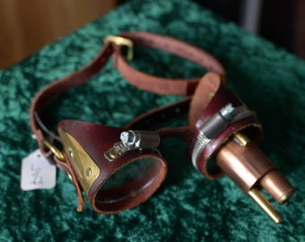 Handmade Leather Steampunk Goggles