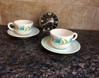 Franciscan Tulip Time Set of Coffee Cups and Saucers
