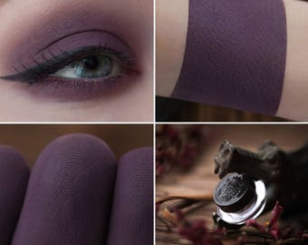 Eyeshadow: Executing the Gossips - Dark Castle. Plum matte eyeshadow by SIGIL inspired.