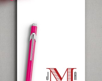 To Do List | Teacher Notepad | Girlfriend Gift | CHEVALIER MONOGRAM | Personalized Notepad | Custom Note Pad