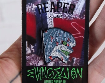 Evangelion eva enamel pin from grimjob x the pin reaper . Manga anime