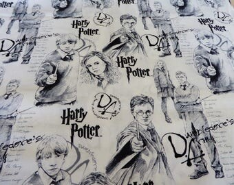 "Harry Potter Dumbledore's Army curtain valance 41"" wide and 15"" long/height in 100% cotton - handmade new."
