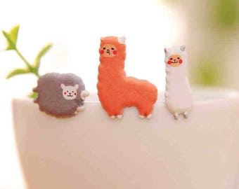 Alpaca and Sheep Puffy Stickers