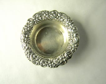 Shrive of San Francisco Sterling Silver 1902's Vintage Open Salt Cellar Made in America