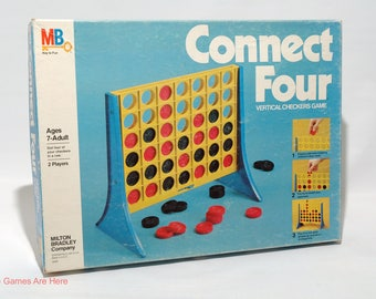 Connect Four Vertical Checkers Game from Milton Bradley 1979  (read description)