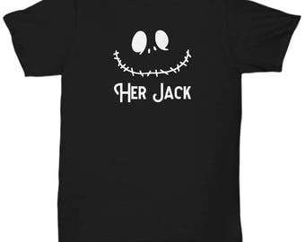 Her Jack Skellington Gift Shirt Halloween Nightmare Before Christmas Dad Husband Father Shirts