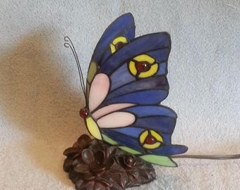 Nightlight - Stained Glass Butterfly - Accent Lamp