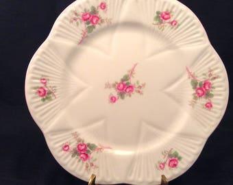 Shelley Fine Bone China Saucer/Bridal Rose Pattern/Replacment Shelley Saucer/Shelley Orphan Saucer