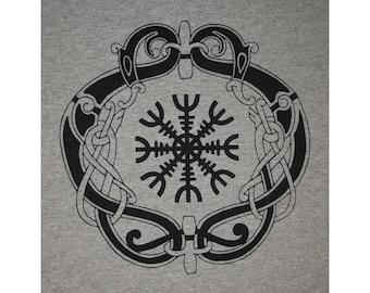 Aegishjalmar Aegishjalmur Knot Helm of Awe Norse Viking Rune T-Shirt BL