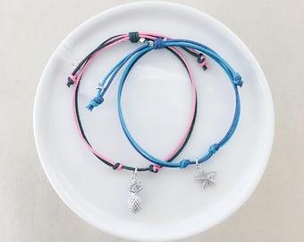 Summer Cords - Pineapple & Starfish Charm
