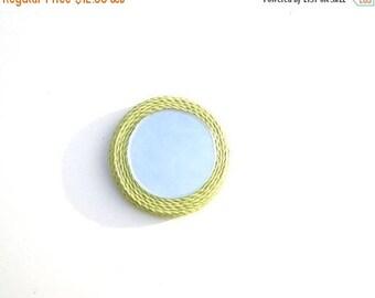 ON SALE 33 % Decorative Small Mirror,Small Pocket Purse Mirror,Bright Green Fridge Magnet