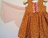 Fenella Dress - Baby, Toddler, Child, Girl, Fairy Tale, Wings, Goldilocks, Bears, Whimsical, Fall Dress, Fall, Woods, Boho, Modern