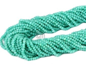 "20% OFF 1 Strand Aqua Chalcedony Rondelle Micro Faceted 3-4mm 14"" Length AAAmazing quality 100 Percent Natural (RLAD-70002)"