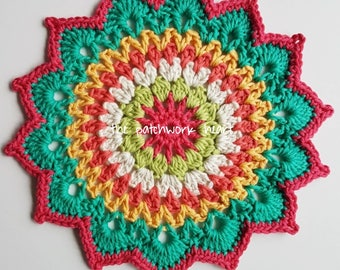 Medium sized crochet mandala/doily diameter 23cm/9inches