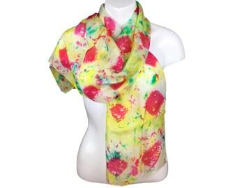 Silk scarf hand dyed, silk ponge 5, womens scarf, fashion scarf, lightweight scarf