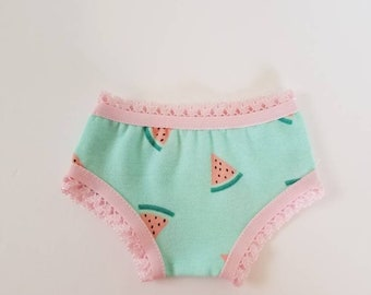 Watermelon Undies for American Girl Dolls by The Glam Doll - Fits Bitty Baby and other Baby Dolls