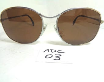 Vintage METZLER Sunglasses 1910 Oversize Germany Brown (ADC-03)