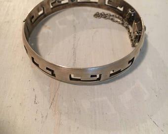 Vinyage sterling signed bracelet