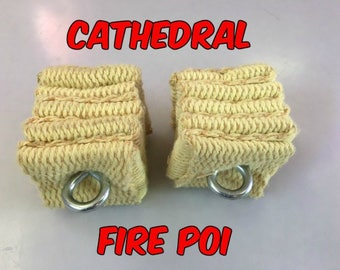 Cathedral Fire Poi - Available in Small, Medium, or Large
