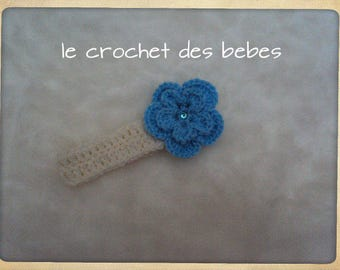 """made to order"" baby headband"
