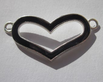 """large spacer """"heart"""" metal connector 3.8 cm long (C12)"""