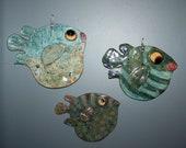 Set of 3 Ceramic Fish Wall Decor