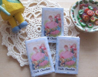 easter chocolate bar x 1 easter vintage themed 12th scale miniature dollhouse