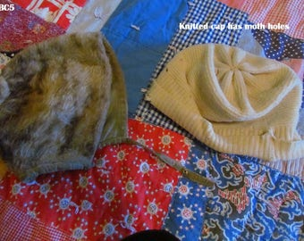 Antique Baby or Children's Hat & Stocking Cap, 1910's-1920's