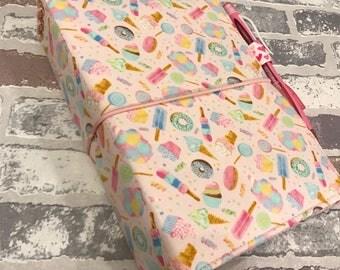 B6 Size Fabric Fauxdori -Reinforced Spine - Fabric Travelers Notebook