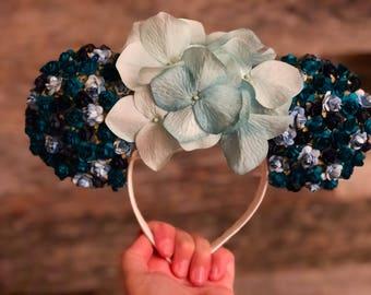 Blue Flower Ears