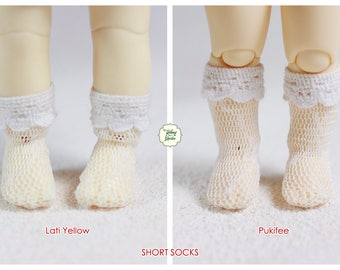 Lati Yellow/ Pukifee - Short Socks - White Color