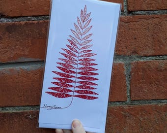 Christmas Greeting Card; Norway Spruce
