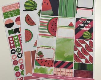 Watermelon Collection - Mini Kit - Planner Stickers - Erin Condren - Happy Planner