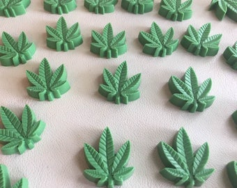 Set Of 12 SOAPS- CANNABIS, Marijuana leaf, Novelty, Guest, Party, Handmade By SPA Uptown, Cannabis flower scented