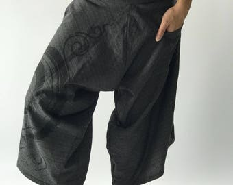 HC0198 samurai pants with Coconut button up cotton pants