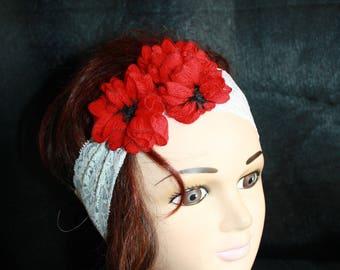 white lace elastic headband