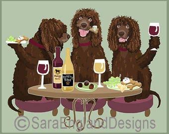 Dogs WINEing - Irish Water Spaniel