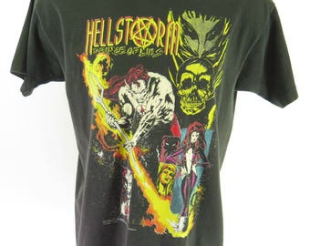 Vintage 90s Hellstorm T Shirt XL Marvel Prince of Lies Comic Issue Number 1 [H59A_0-11]